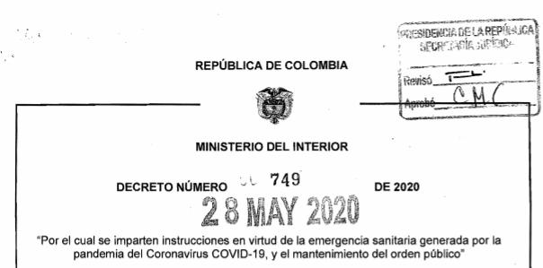 Extensión del aislamiento preventivo obligatorio hasta el 1 de julio