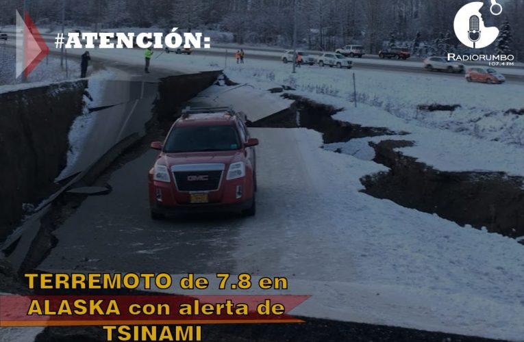 Terremoto de 7.8 en Alaska con alerta de Tsunami
