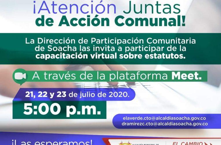 Capacitación virtual para las Juntas de Acción Comunal de los barrios de Soacha La