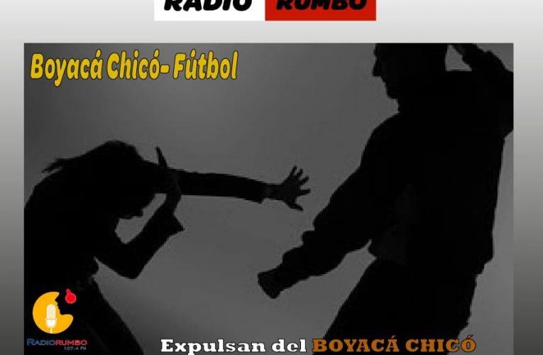 Expulsan del Boyacá chicó al jugador que agredió a su ex pareja.