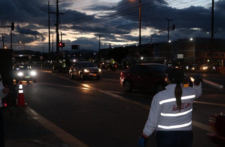 Con éxito se realizó el 'Pico y placa' en la Autopista Sur.