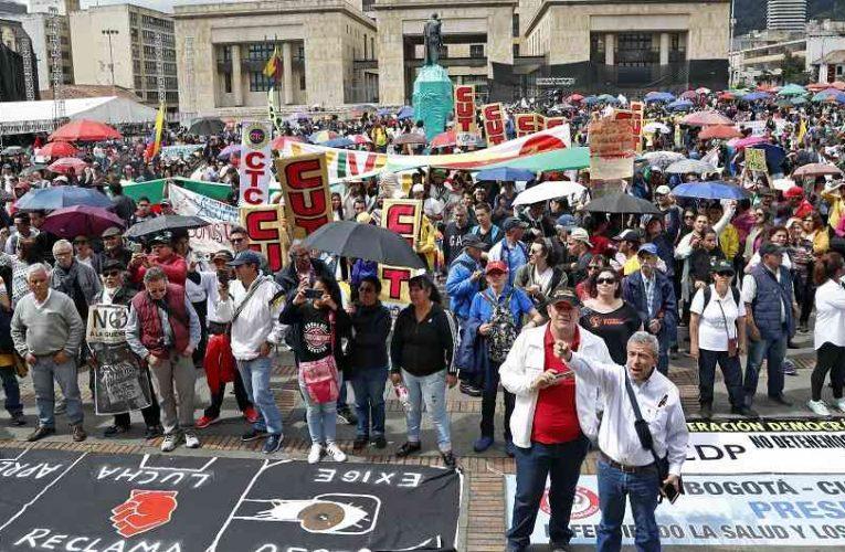 Puntos de concentración del paro en Bogotá