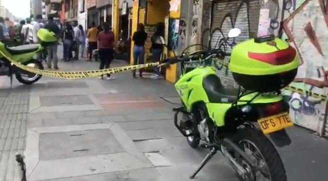 Balacera en pleno centro de Bogotá