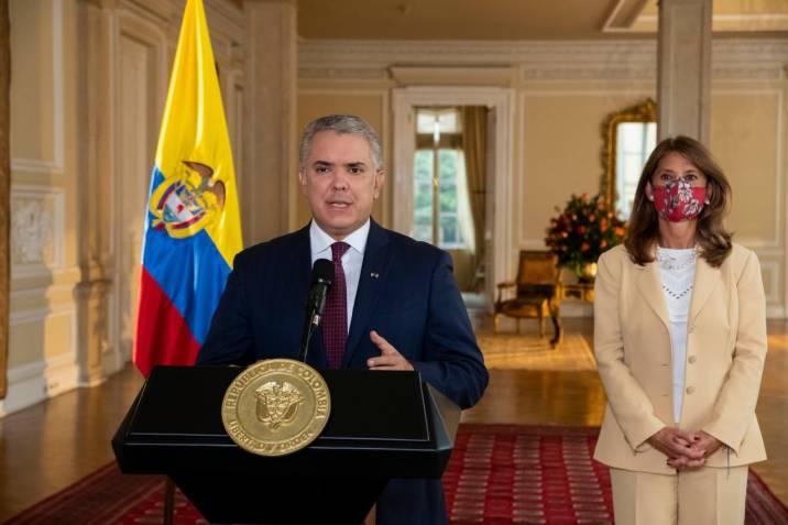 El Presidente Iván Duque y la Vicepresidenta Marta Lucía Ramírez, iniciaron un encuentro con jóvenes estudiantes