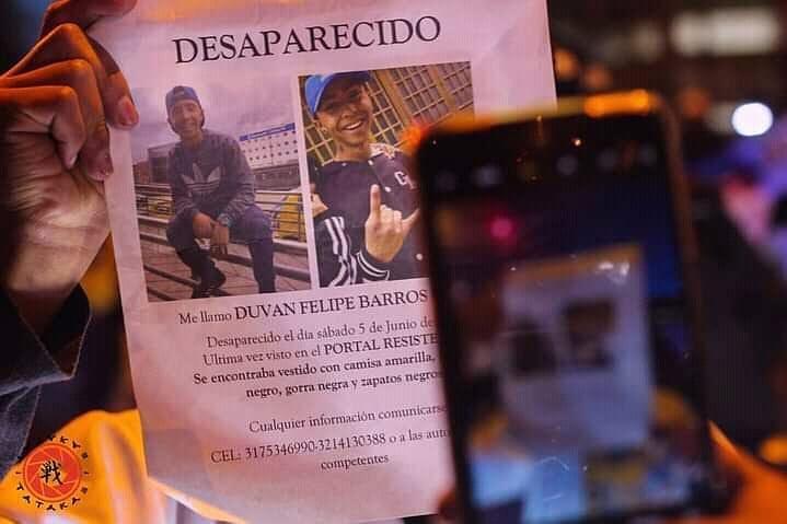 Duvan Barrios ¿Nueva víctima del Paro Nacional?