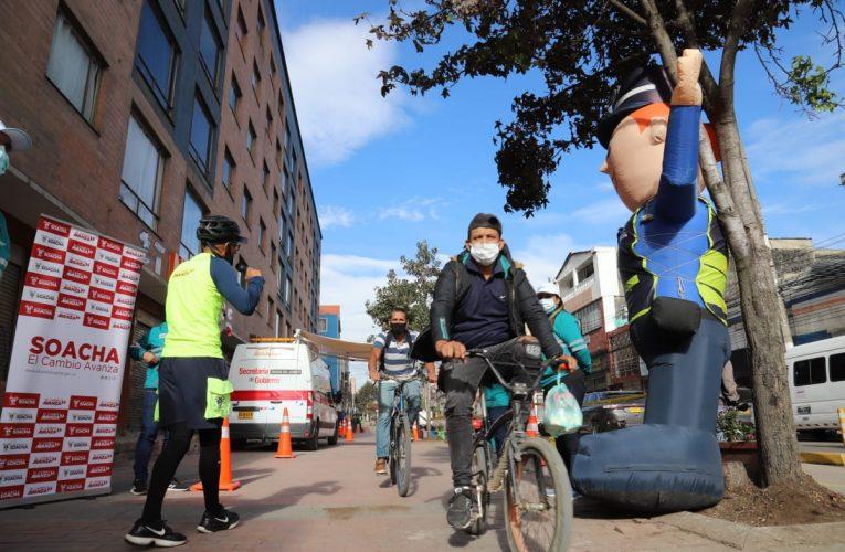 Con la campaña 'Muévete Seguro Primo', Soacha reduce la accidentalidad en ciclistas.